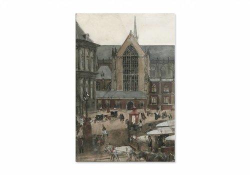 De Dam te Amsterdam • staande afdruk op plexiglas