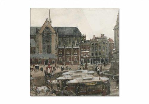 De Dam te Amsterdam • vierkante afdruk op plexiglas