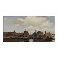Gezicht op Delft • liggende afdruk op canvas