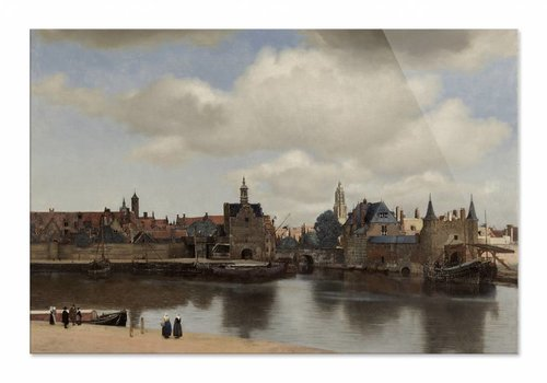 Gezicht op Delft • liggende afdruk op plexiglas