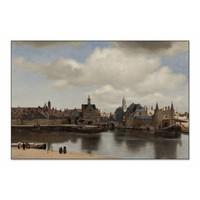 Gezicht op Delft • liggende afdruk op textiel