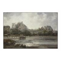 Gezicht op Nantes • liggende afdruk op textiel