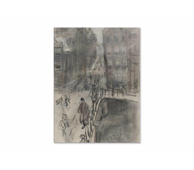 Brug over het Singel bij de Oud Spiegelstraat te Amsterdam • staande afdruk op plexiglas