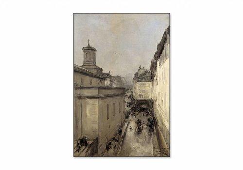 Gezicht op de Notre Dame • staande afdruk op textiel