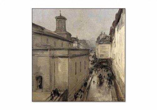 Gezicht op de Notre Dame • vierkante afdruk op textiel