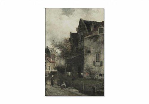 Stadsgezicht • staande afdruk op textiel