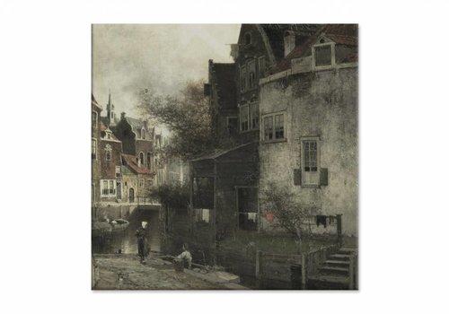 Stadsgezicht • vierkante afdruk op canvas