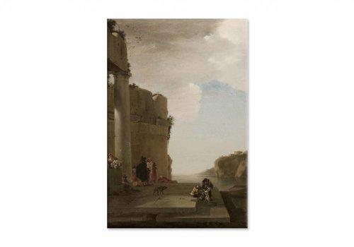 Italianiserend landschap • staande afdruk op canvas