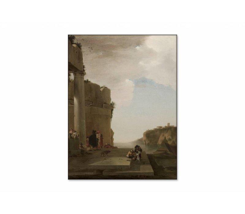 Italianiserend landschap • staande afdruk op textiel