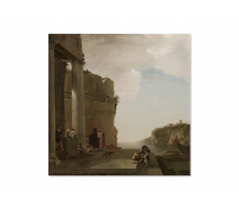 Italianiserend landschap • vierkante afdruk op canvas