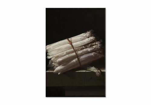Stilleven met asperges • staande afdruk op canvas