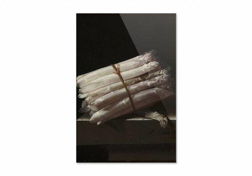 Stilleven met asperges • staande afdruk op plexiglas