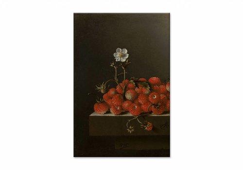 Bosaardbeien • staande afdruk op canvas