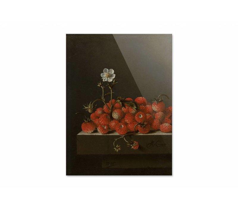 Bosaardbeien • staande afdruk op plexiglas