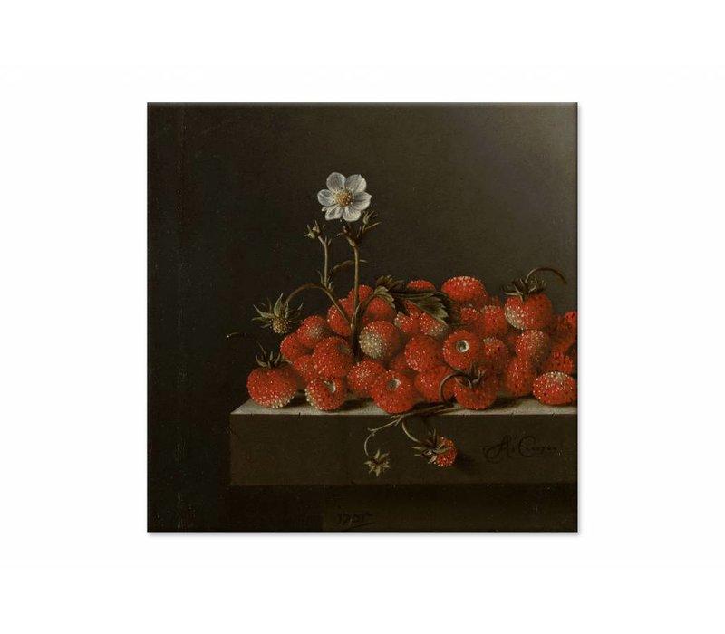 Bosaardbeien • vierkante afdruk op canvas