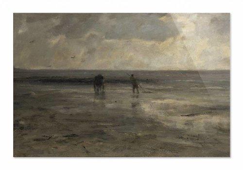 Strand bij avond • liggende afdruk op plexiglas