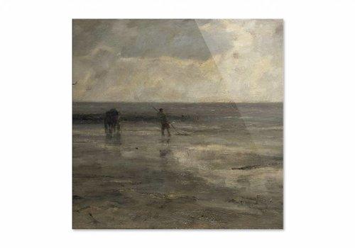 Strand bij avond • vierkante afdruk op plexiglas