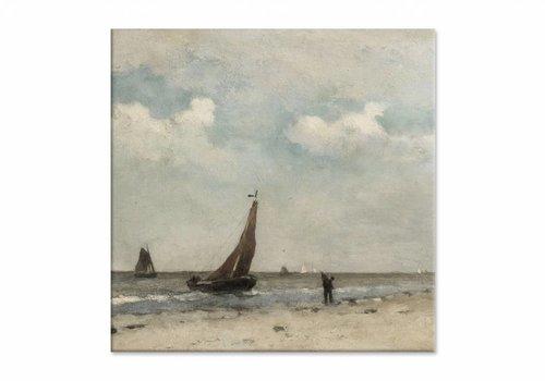Strandgezicht • vierkante afdruk op canvas