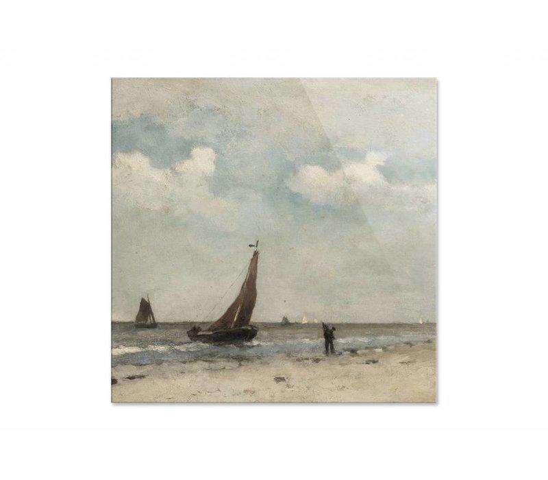 Strandgezicht • vierkante afdruk op plexiglas