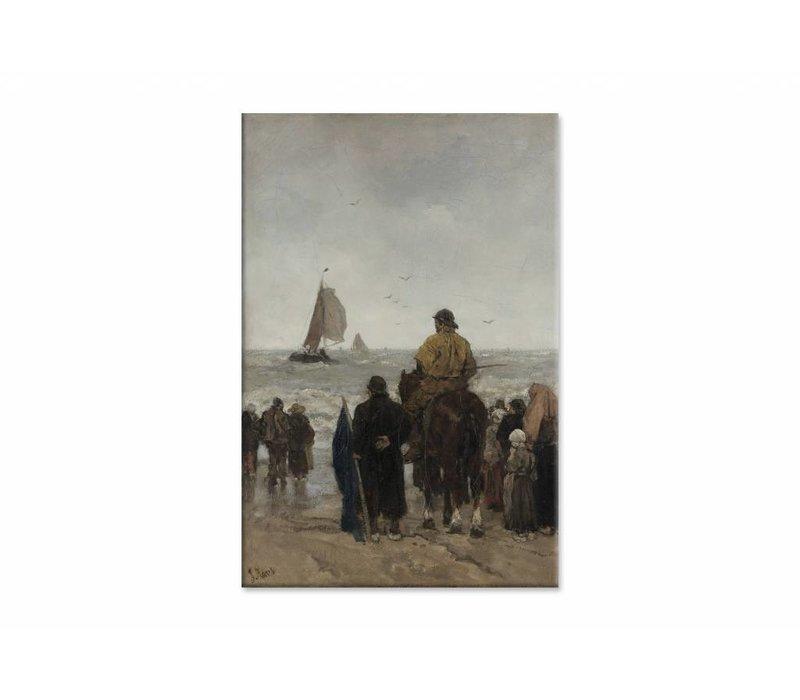 Aankomst der boten • staande afdruk op canvas