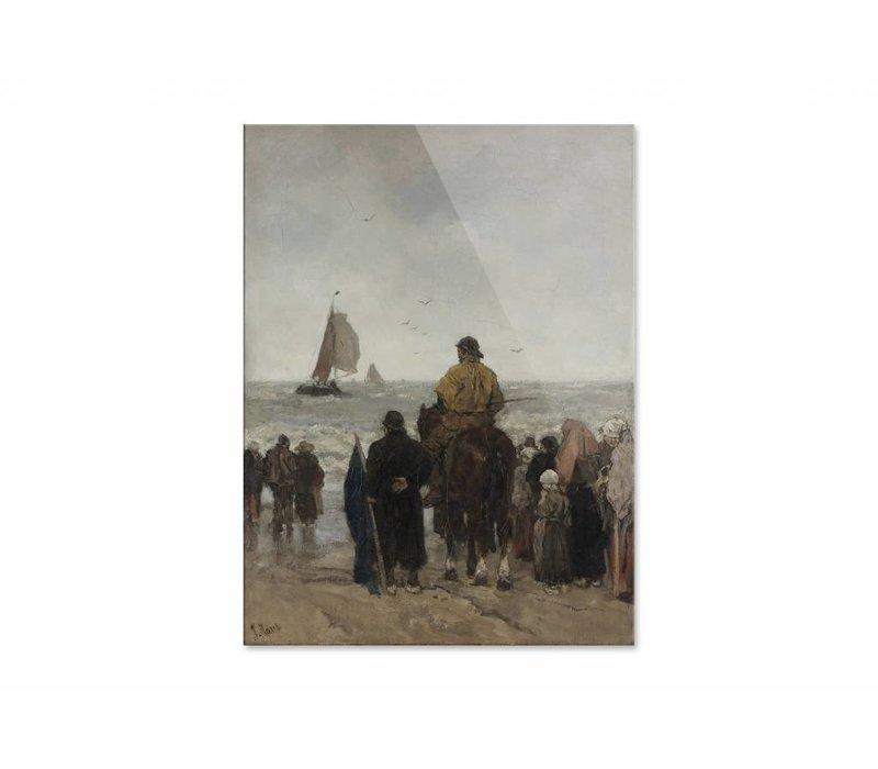 Aankomst der boten • staande afdruk op plexiglas