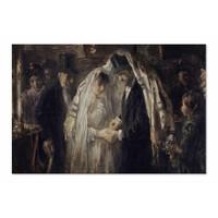 Joodse bruiloft • liggende afdruk op canvas