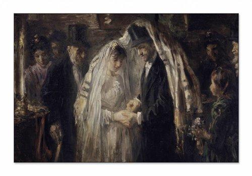 Joodse bruiloft • liggende afdruk op textiel