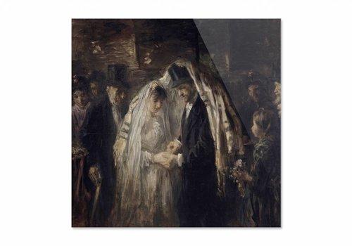 Joodse bruiloft • vierkante afdruk op plexiglas