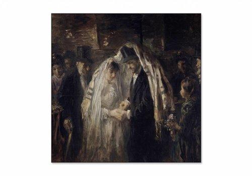 Joodse bruiloft • vierkante afdruk op textiel