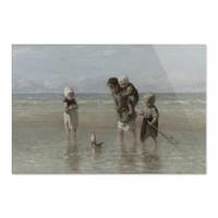 Kinderen der zee • liggende afdruk op plexiglas