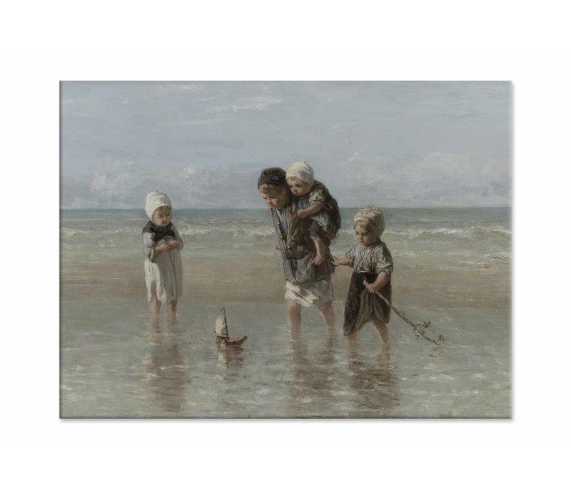 Kinderen der zee • liggende afdruk op canvas