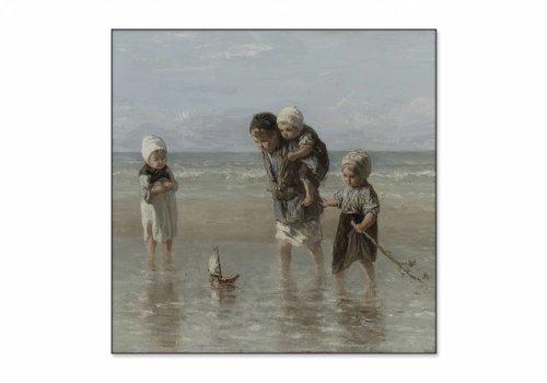Kinderen der zee • vierkante afdruk op textiel