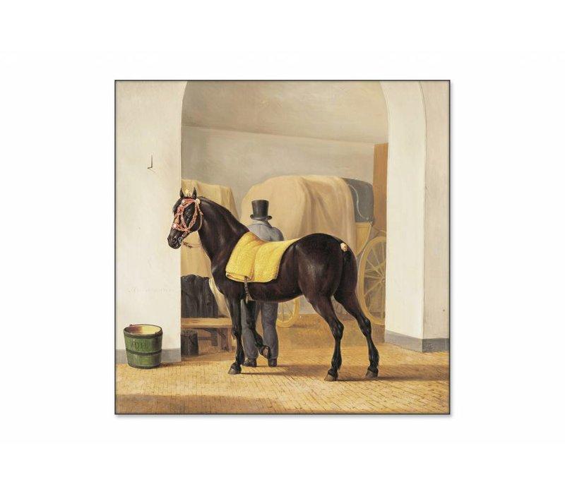 De harddraver de Rot van Adriaan van der Hoop • vierkante afdruk op textiel