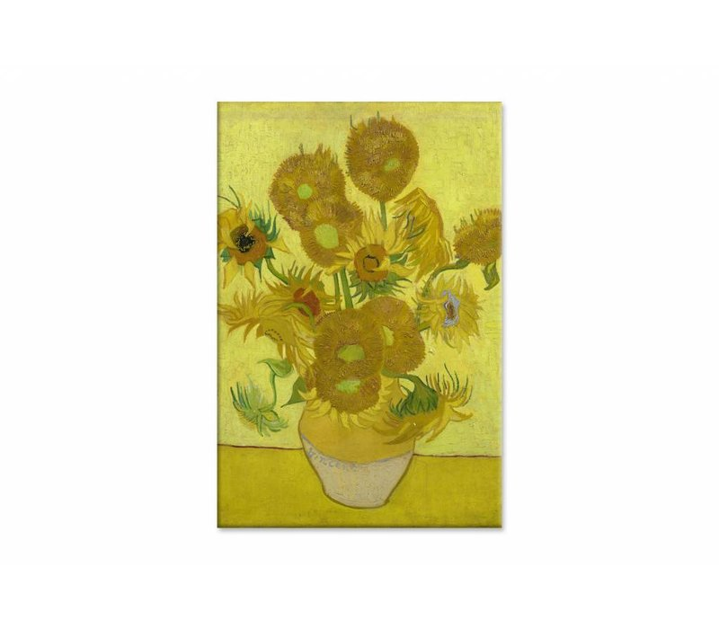 Zonnebloemen door Vincent van Gogh • staande afdruk op canvas