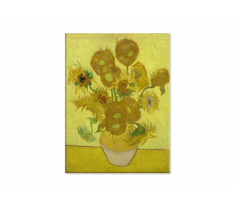 Zonnebloemen door Vincent van Gogh • staande afdruk op plexiglas