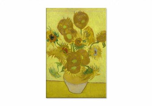 Zonnebloemen door Vincent van Gogh • staande afdruk op textiel