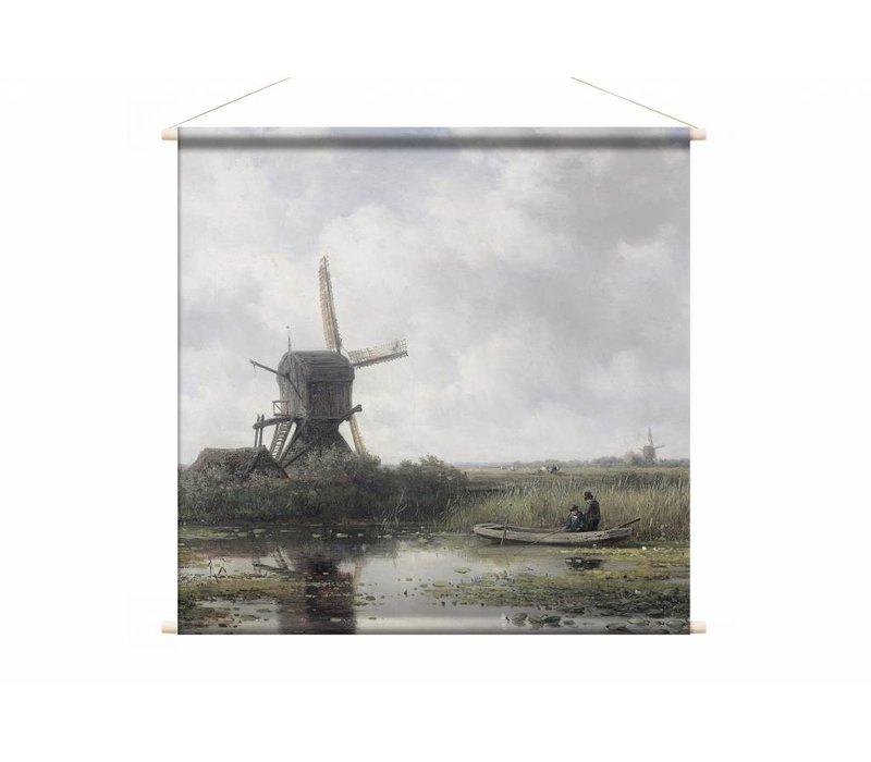 In het Gein bij Abcoude • vierkante afdruk op textielposter