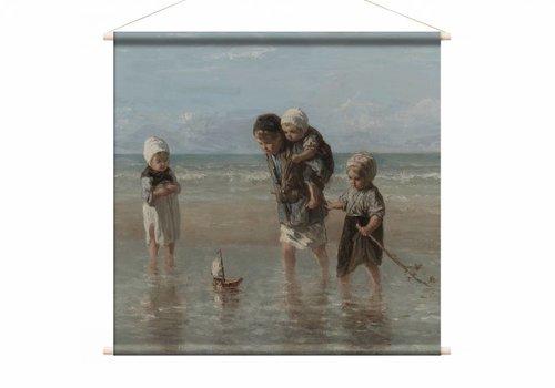 Kinderen der zee • vierkante afdruk op textielposter