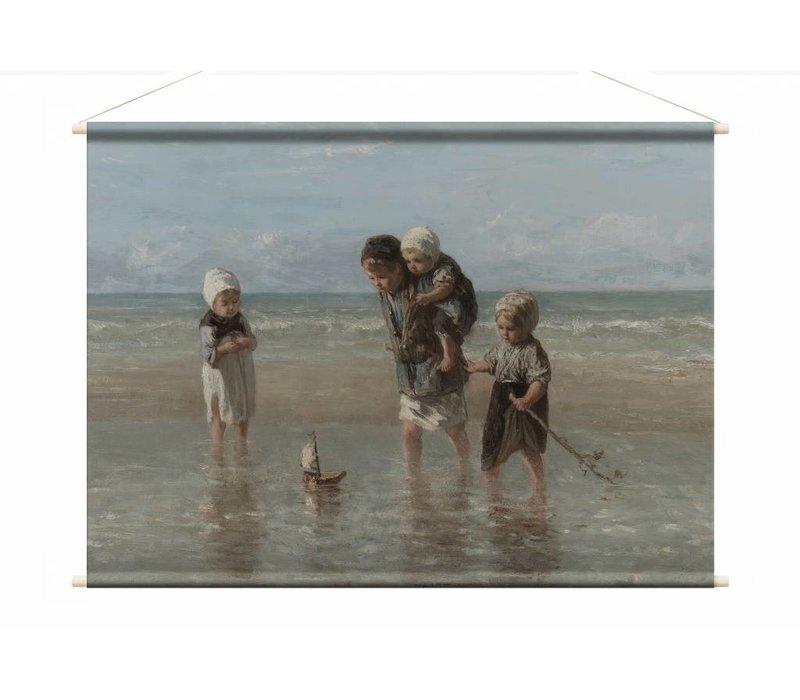 Kinderen der zee • liggende afdruk op textielposter