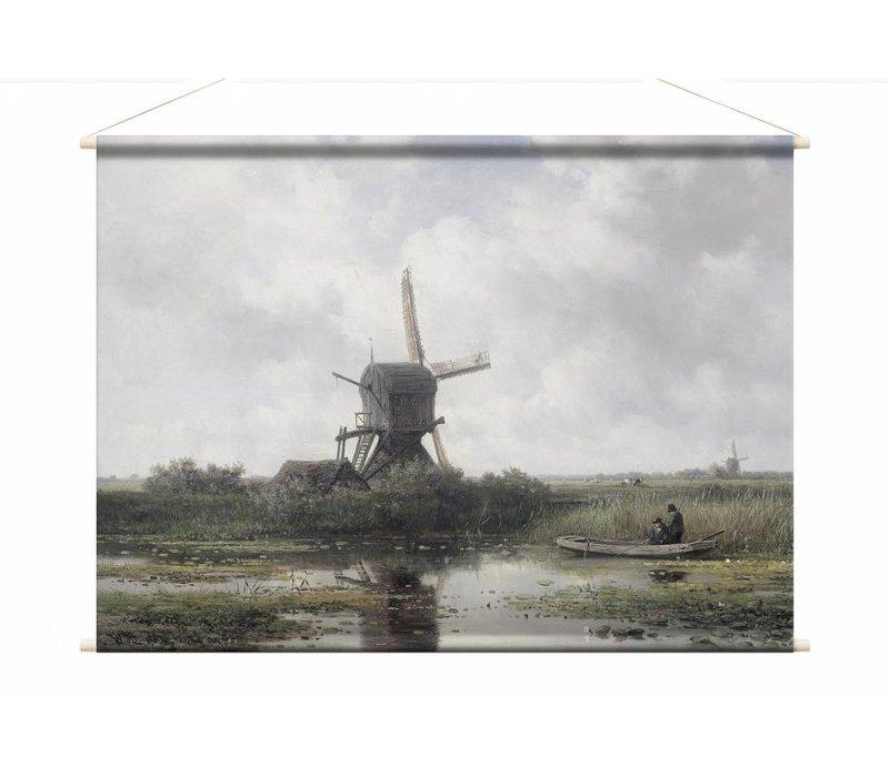 In het Gein bij Abcoude • liggende afdruk op textielposter