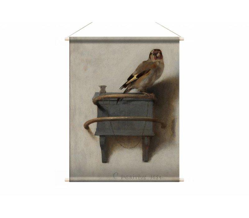Het puttertje • staande afdruk op textielposter
