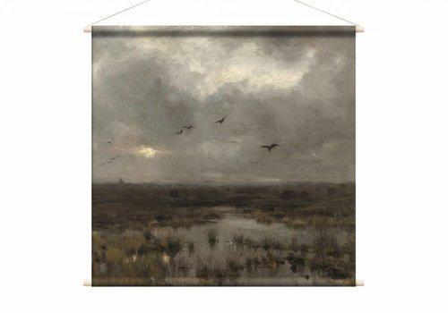 Het moeras • vierkante afdruk op textielposter