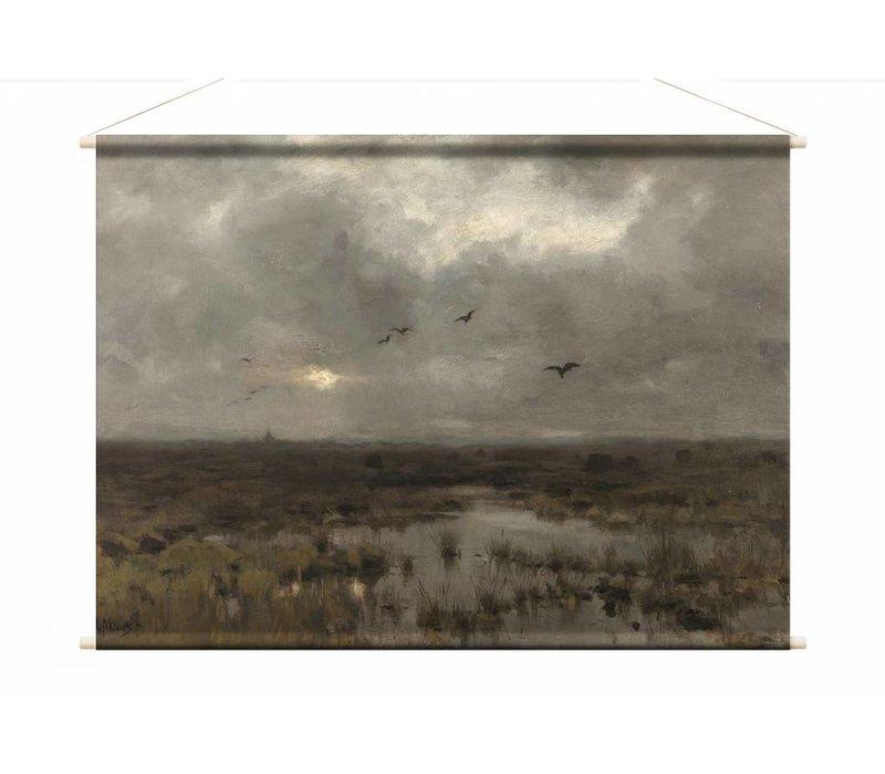Het moeras • liggende afdruk op textielposter