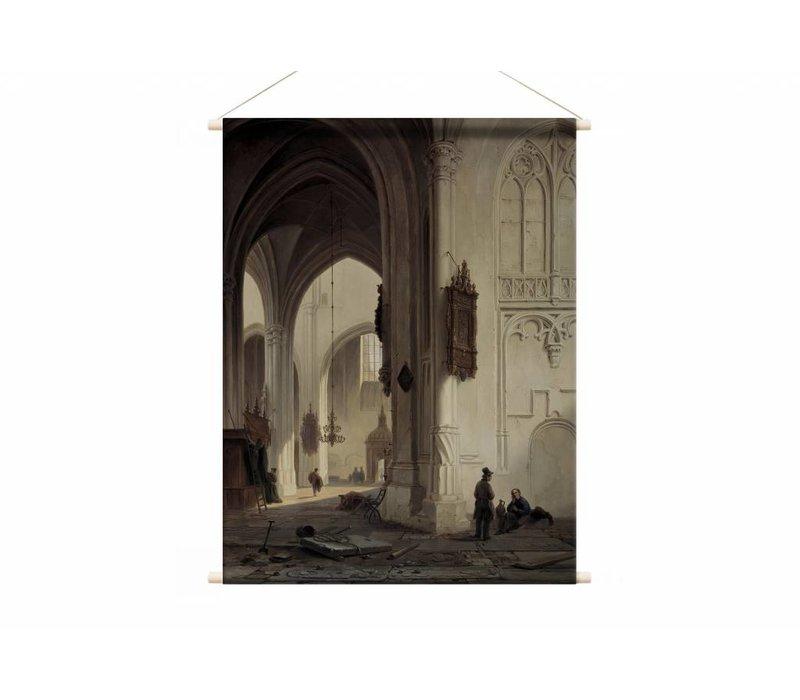 Kerkinterieur 1 • staande afdruk op textielposter