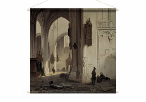 Kerkinterieur 1 • vierkante afdruk op textielposter