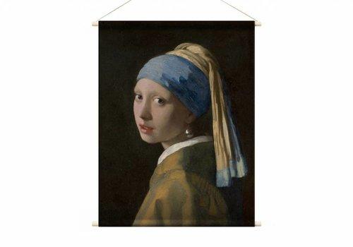 Meisje met de parel • staande afdruk op textielposter