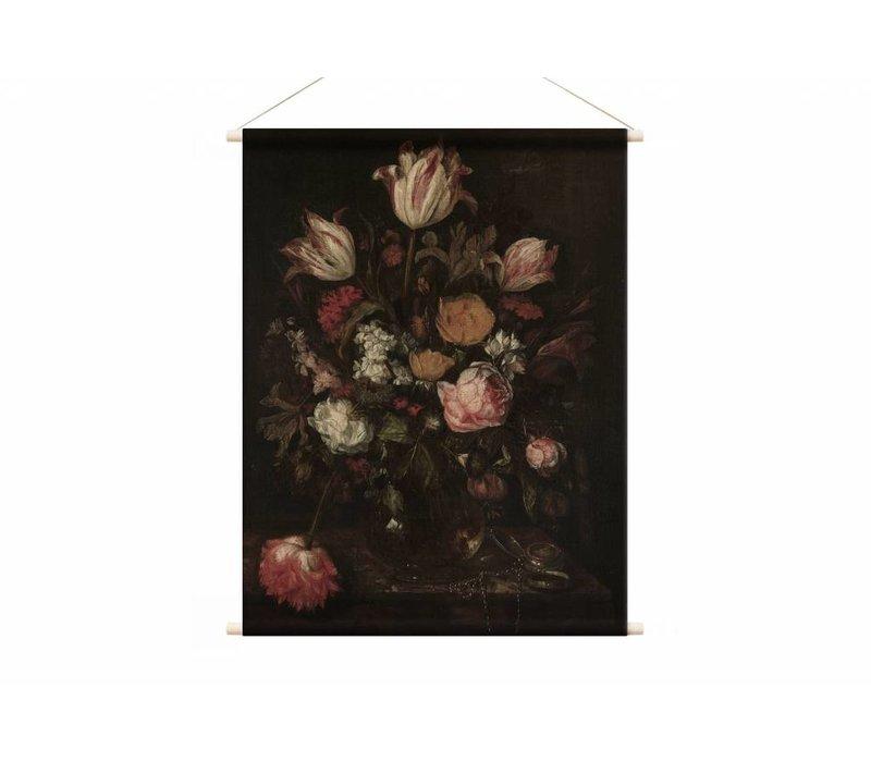 Stilleven met bloemen1 • staande afdruk op textielposter