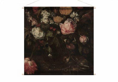 Stilleven met bloemen1 • vierkante afdruk op textielposter