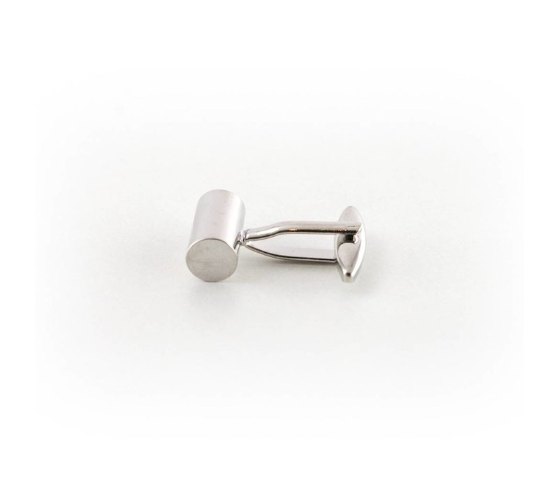 Zilverkleurige manchetknoop