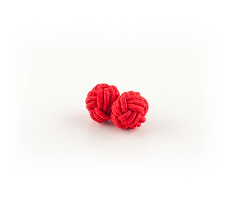 Stoffen manchetknoop rood